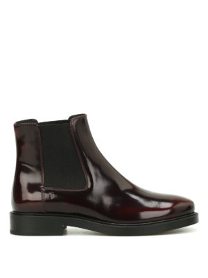 Tod'S: ankle boots - Polished leather Chelsea boots