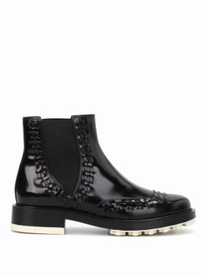 Tod'S: ankle boots - Semi-glossy leather booties