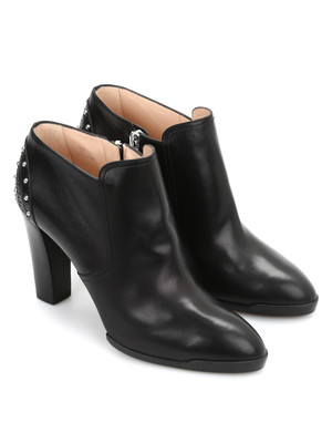 Tod'S: ankle boots - Studded leather ankle boots