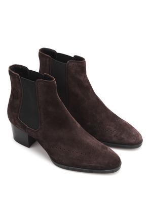 Tod'S: ankle boots - Suede ankle boots