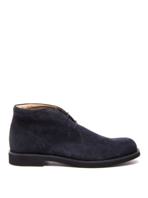 Tod'S: ankle boots - Suede lace-up ankle boots