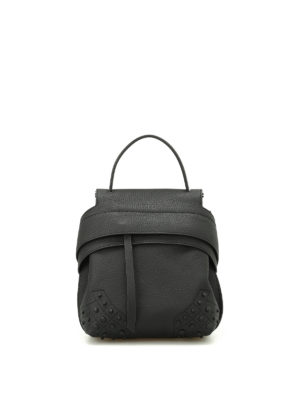 Tod'S: backpacks - Wave Bag Mini black backpack