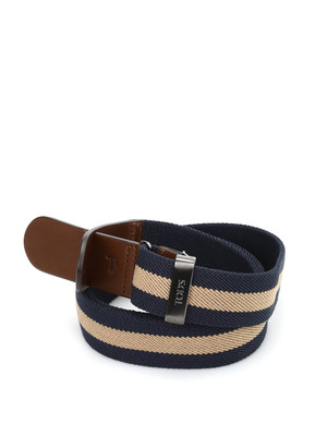 Tod'S: belts - Canvas and leather belt