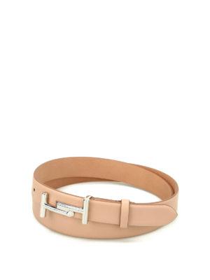 Tod'S: belts - Double T buckle leather belt