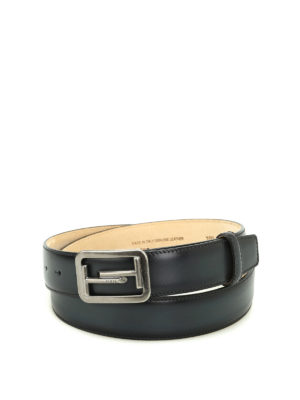 Tod'S: belts - Double T buckle leather belt