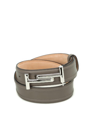 Tod'S: belts - Double T leather belt