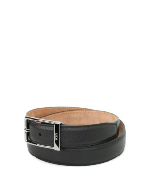 Tod'S: belts - Hammered leather belt