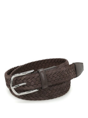 Tod'S: belts - Intreccio Camoscio belt