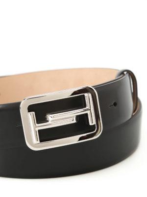 Tod'S: belts online - Black brushed leather belt