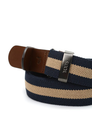 Tod'S: belts online - Canvas and leather belt