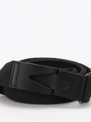 Tod'S: belts online - Canvas and leather Greca belt