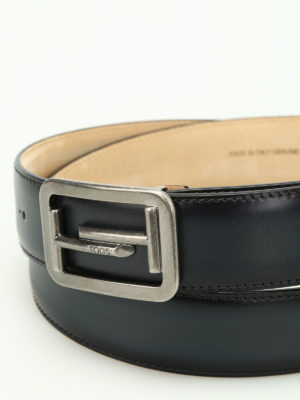 Tod'S: belts online - Double T buckle leather belt