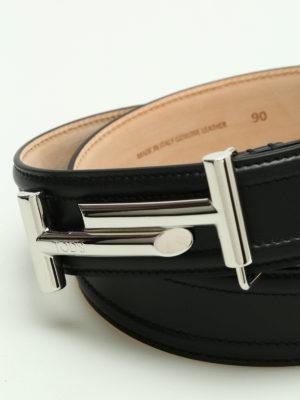 Tod'S: belts online - Double T leather belt