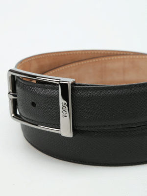 Tod'S: belts online - Hammered leather belt