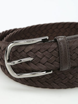 Tod'S: belts online - Intreccio Camoscio belt
