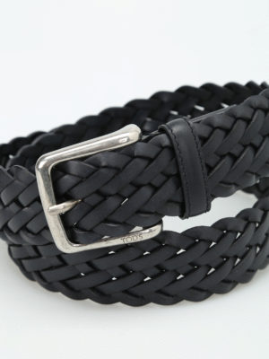 Tod'S: belts online - Woven leather belt