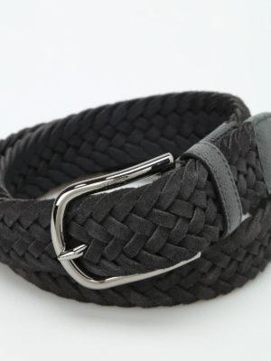 Tod'S: belts online - Woven suede belt