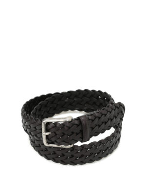 Tod'S: belts - Woven leather belt