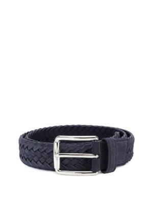 TOD'S: cinture - Cintura a intreccio in camoscio