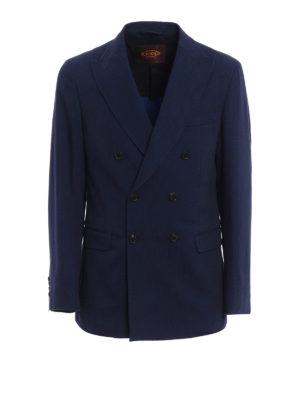 Tod'S: blazers - Dark denim formal blazer