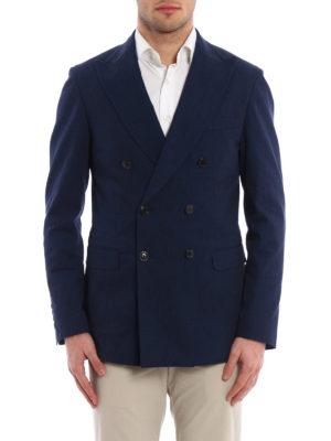 Tod'S: blazers online - Dark denim formal blazer