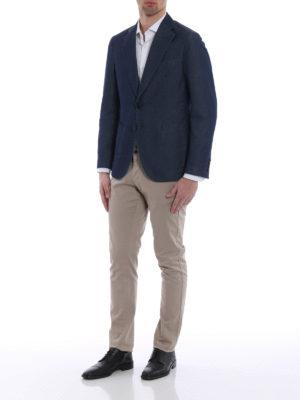 Tod'S: blazers online - Washed denim unstructured blazer