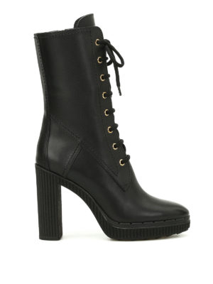 Tod'S: boots - Lace-up leather boots