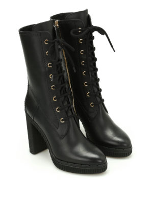 Tod'S: boots online - Lace-up leather boots