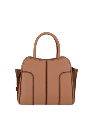 Tod'S: bowling bags - Brown leather Mini Sella bag