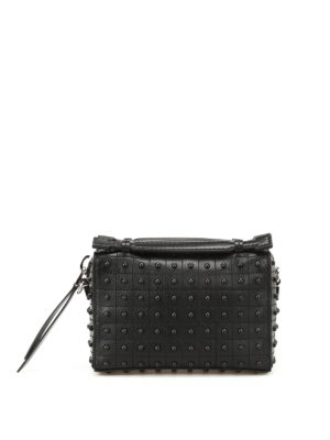 Tod'S: bowling bags - Don Gommini black mini bowling bag