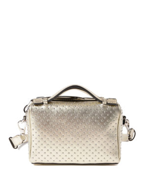 Tod'S: bowling bags - Don Mini metallic leather bag