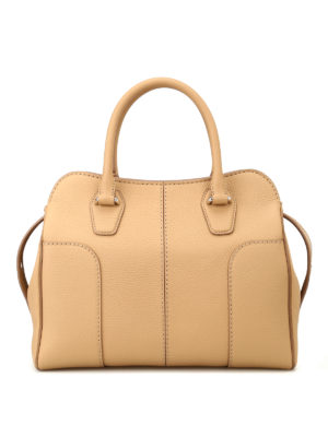 Tod'S: bowling bags - Hammered soft leather bowling bag