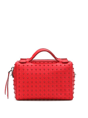 Tod'S: bowling bags - Mini bag with rubber pebbles