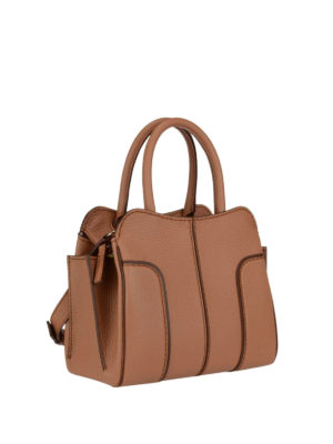 Tod'S: bowling bags online - Brown leather Mini Sella bag