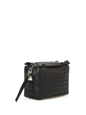 Tod'S: bowling bags online - Don Gommini black mini bowling bag