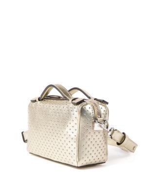 Tod'S: bowling bags online - Don Mini metallic leather bag