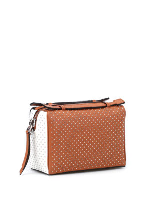 Tod'S: bowling bags online - Don studded bowling bag