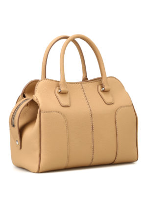 Tod'S: bowling bags online - Hammered soft leather bowling bag