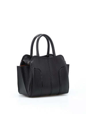 Tod'S: bowling bags online - Sella top zip mini leather bag