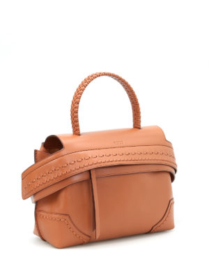 Tod'S: bowling bags online - Small Wave Bag with woven handle