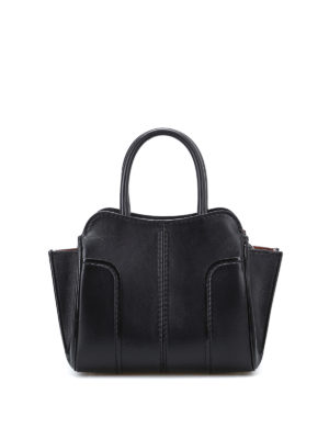Tod'S: bowling bags - Sella top zip mini leather bag
