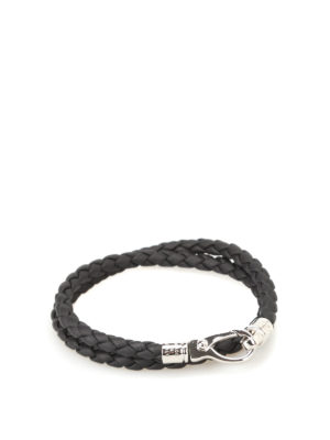 Tod'S: Bracelets & Bangles - MyColors black leather bracelet