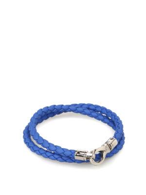 Tod'S: Bracelets & Bangles - MyColors sky blue leather bracelet