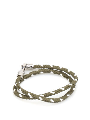 Tod'S: Bracelets & Bangles - MyColors two-tone leather bracelet
