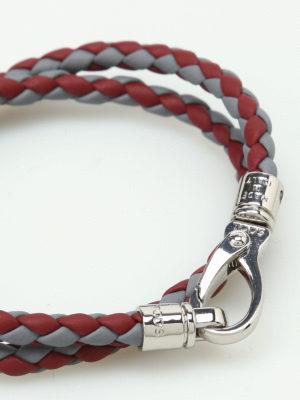 Tod'S: Bracelets & Bangles online - MyColors bicolour leather bracelet