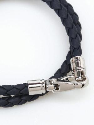 Tod'S: Bracelets & Bangles online - MyColors blue leather bracelet