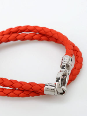 Tod'S: Bracelets & Bangles online - MyColors orange leather bracelet