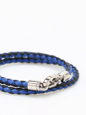 Tod'S: Bracelets & Bangles online - MyColors two-tone leather bracelet