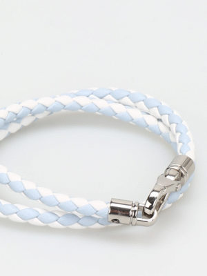 Tod'S: Bracelets & Bangles online - MyColors two-tone leather bracelet