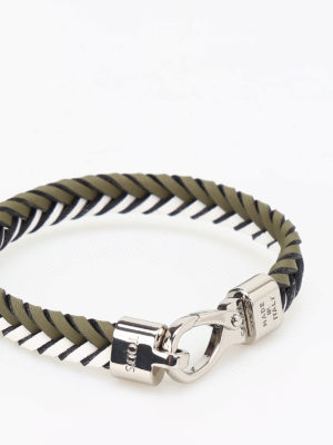 Tod'S: Bracelets & Bangles online - Two-tone woven leather bracelet